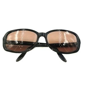Ralph Lauren Black Oversized Oval Sunglasses